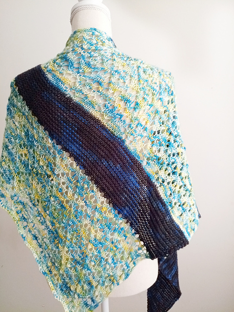multicolor blue stripe with light blue, yellow and white