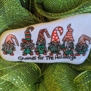 gnomes painted rock